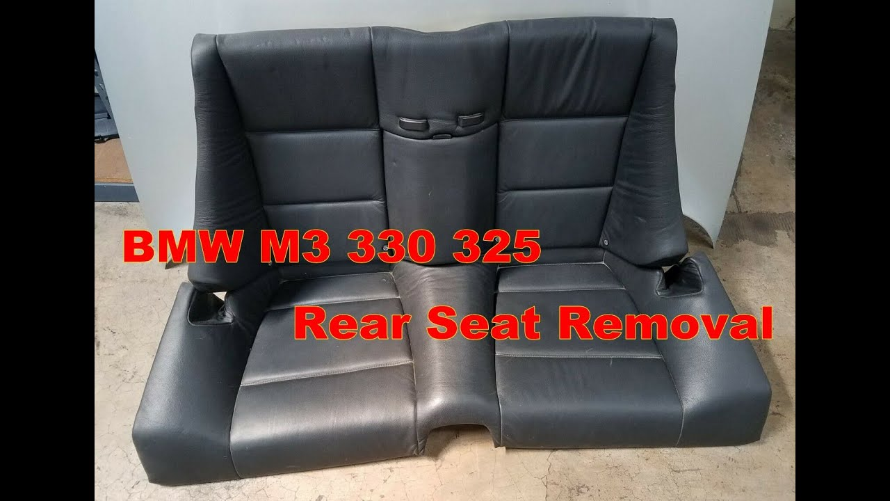 bmw e46 330ci 325ci rear seat removal convertible model [ 1280 x 720 Pixel ]
