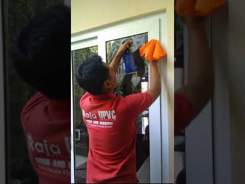 How to clean UPVC doors, windows and glass