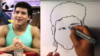 How to Caricature A.C.Slater from Saved by the Bell