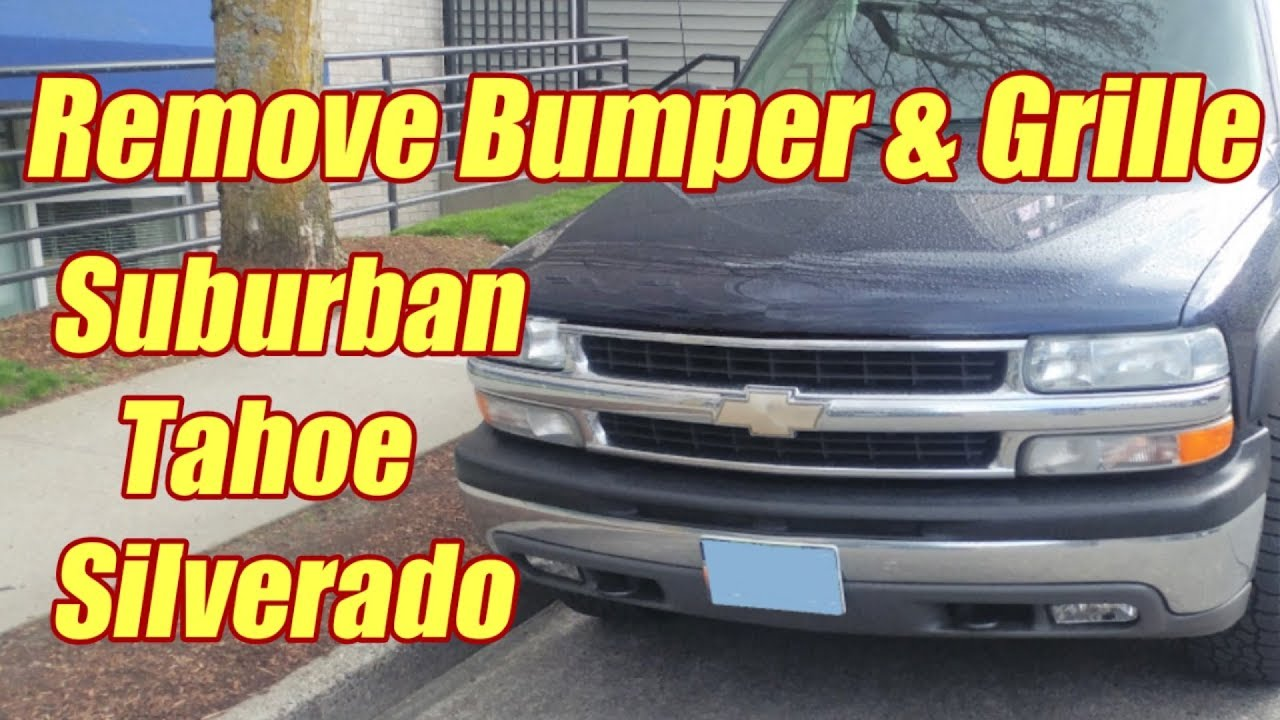 hight resolution of how to replace the front bumper on suburban tahoe silverado 1999 2006
