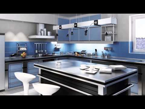 Cocinas de color rojo doovi for Colores cocinas modernas