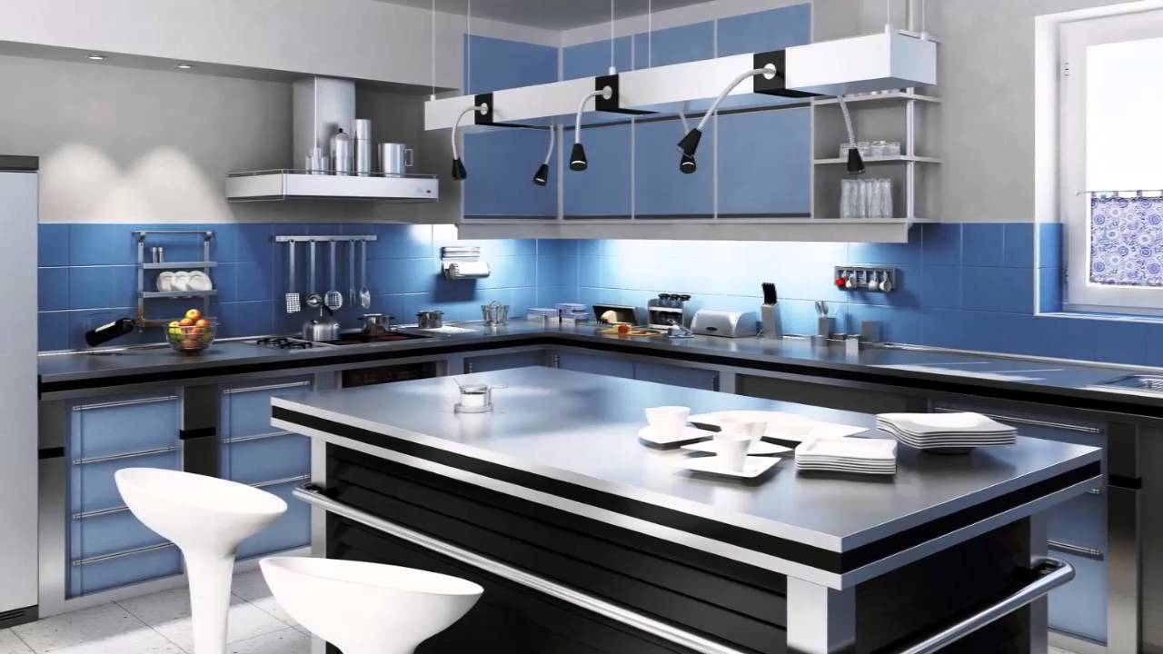 Colores de cocinas modernas youtube for Cocina con electrodomesticos de color negro