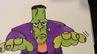 My drawing of Frankenstein