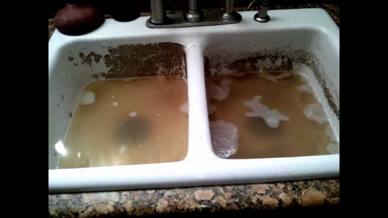 Clogged Kitchen Sink Of Combined And Via YouTube - My kitchen sink is clogged