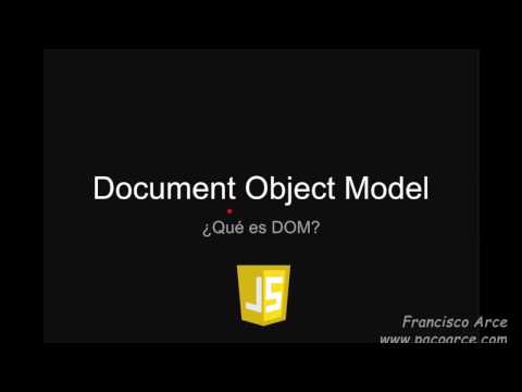 ¿Qué es el DOM, Document Object Model?
