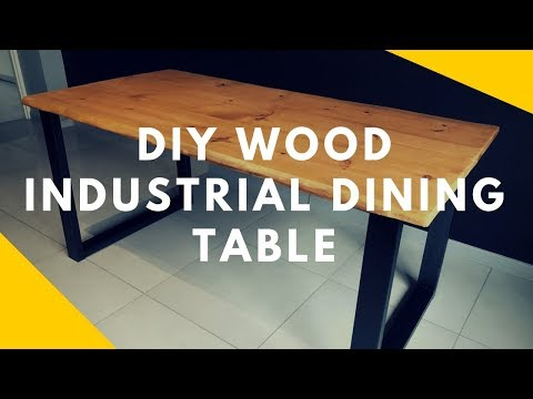 DIY Wood Industrial Dining Table Woodworking 100$