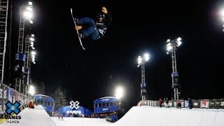 Jan Scherrer tops Monster Energy Men's Snowboard SuperPipe Elims | X Games Aspen 2020