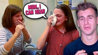 Deaf People Hearing Sound For The First Time