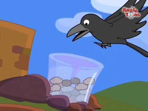 Pyasa Kauwa story of thirsty Crow (in Hindi) in animation format by Jingle Toons (рдкреНрдпрд╛рд╕рд╛ рдХреМрд╡рд╛)