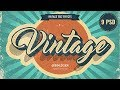 How to create retro/vintage style text in Photoshop