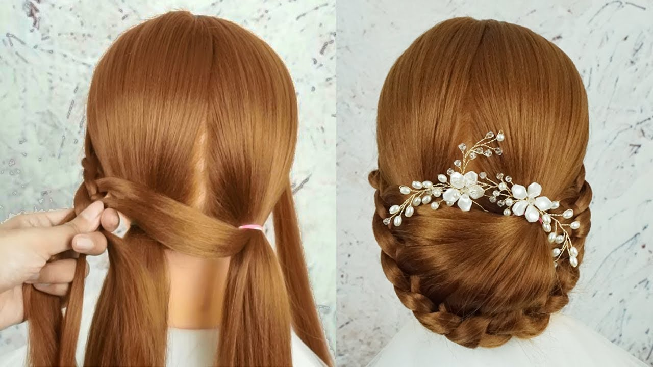 Simple And Easy Hairstyle For Wedding & Party
