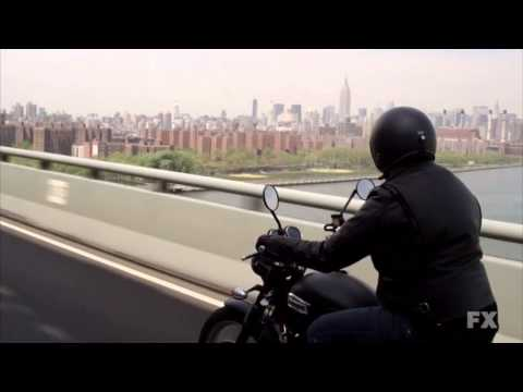 Louie motorcycle scene