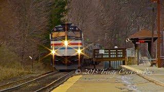 Amtrak Heritage F40PH #406 BLASTS Thru Ballardvale!!!