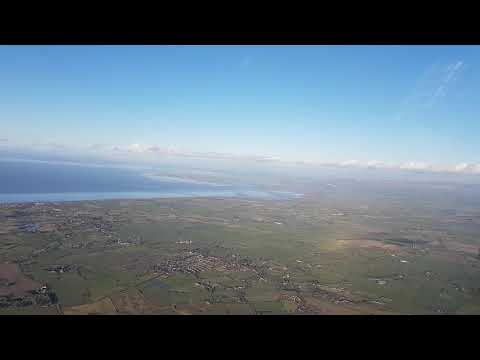 Flying around over the fylde coast