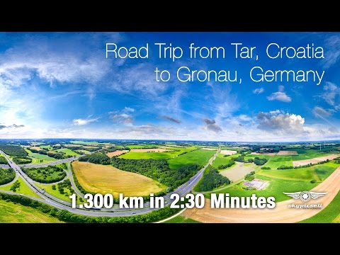 Timelapse Road Trip from Croatia to Germany
