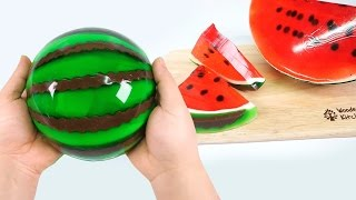 DIY Giant Jello Watermelon ! Gummy Jello Watermelon Slices | MonsterKids