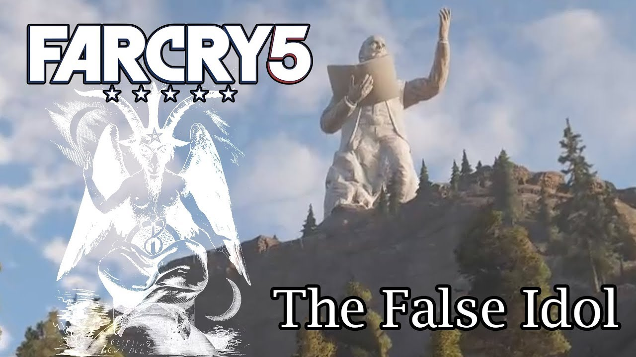 Far Cry 5 Blowing Up The Joseph Seed Statue Youtube