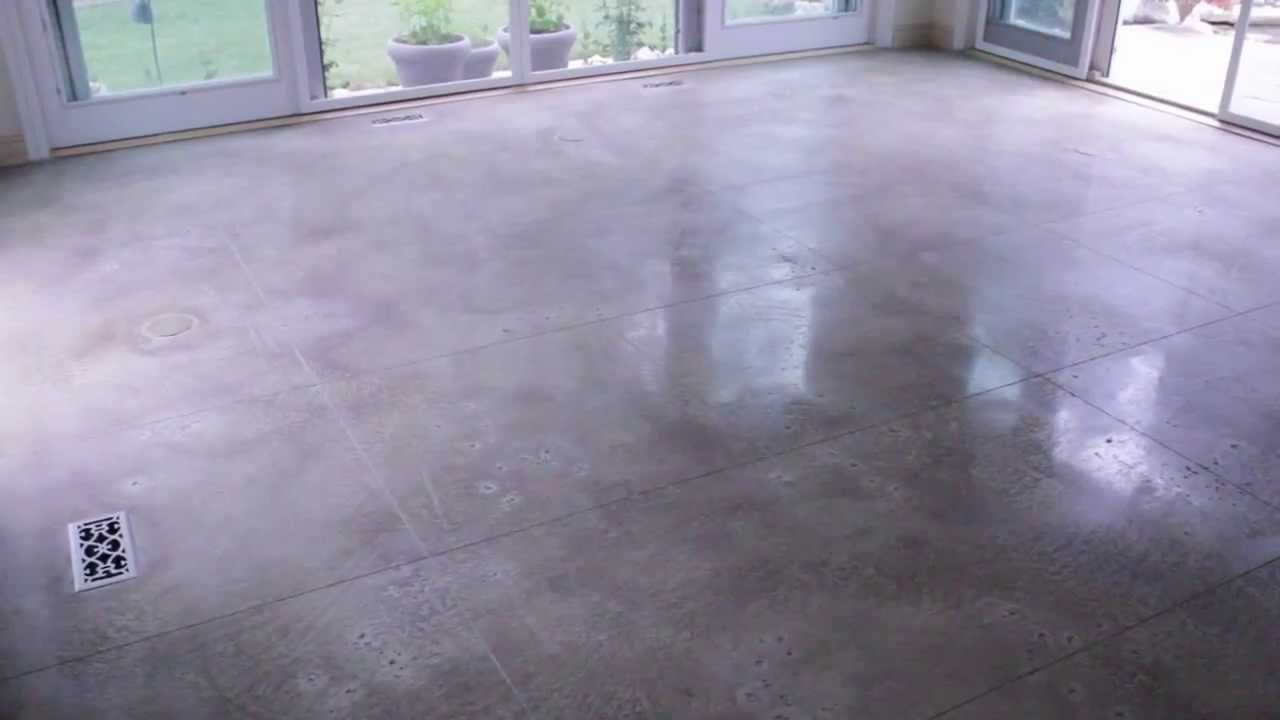 Polished Concrete Tiles  Concrete Innovations  YouTube