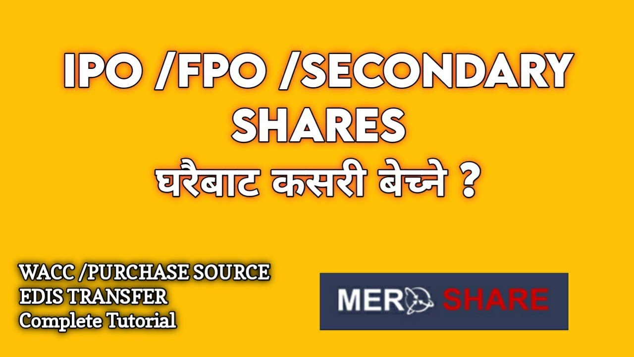 How To Sell Shares From Home | Sell Shares From Meroshare | Purchase Source WACC , EDIS kasari Garne