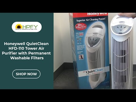 Honeywell QuietClean HFD-110 Tower Air Purifier with Permanent Washable Filters