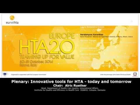 5 Plenary: Innovative tools for HTA