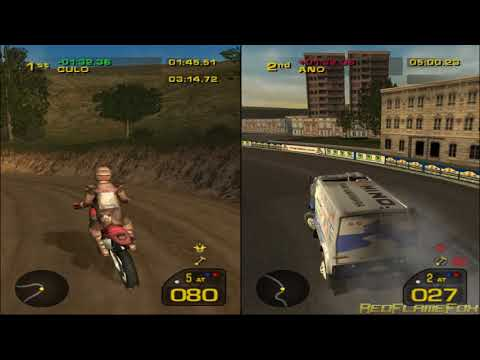 Dakar 2 - Moto VS Van - Split Screen Gameplay