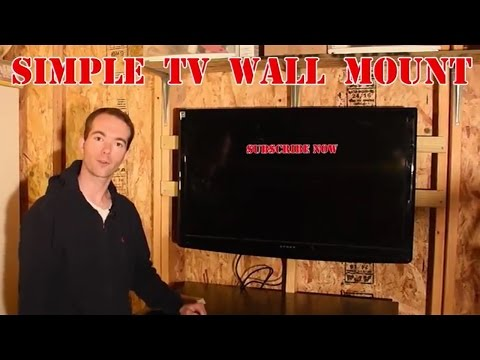 Make a TV Wall Mount From Scrap Wood