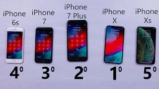Benchmark - iPhone Xs vs Iphone X vs Iphone 7 Plus vs Iphone 7 vs Iphone 6