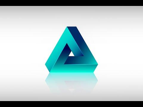 Adobe Illustrator cc 2015 Tutorial - New Impossible Triangle Shape ( SIMPLE )