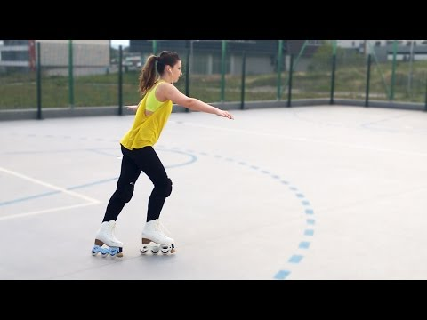 Inline Figure Skating / Artistic Roller with Snow White Inlines