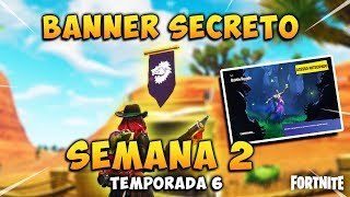 BANNER/SECRET STAR Week 2 * Season 6 * screen loading Fortnite Carlos PS4