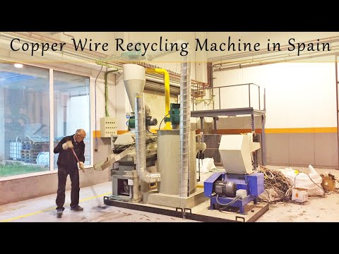 Copper Cable Shredding and Recycling System_Machine Test and Debugging in Europe