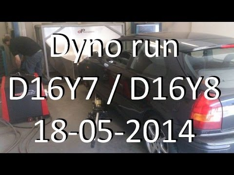 Dyno Run D16y7 W D16y8 Head Civic 18 05 2014 Youtube