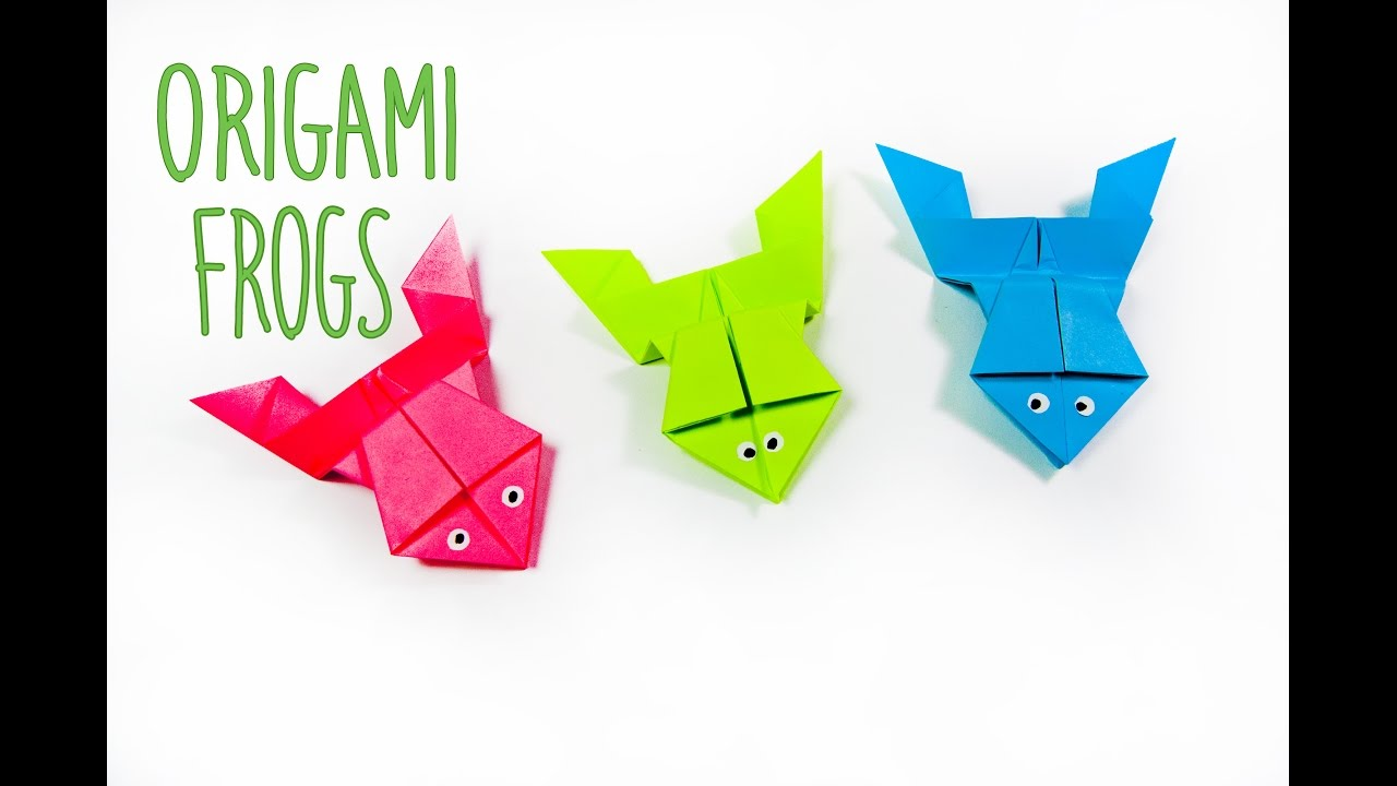 How to make a paper frog origami frog easy origami youtube how to make a paper frog origami frog easy origami jeuxipadfo Images