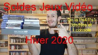 Soldes Jeux Vidéo Hiver 2020 : De la Ps4/Ps1/3ds/Nes et 1 console !!!