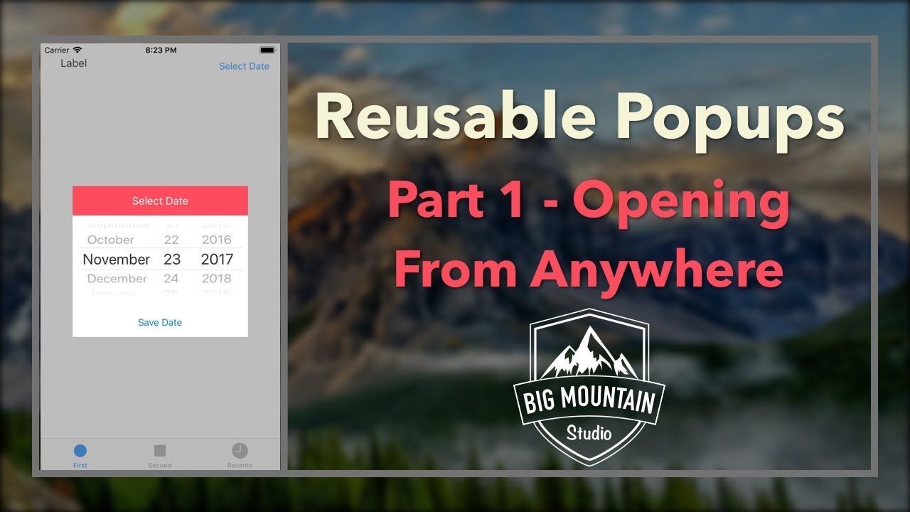 Reusable Custom Popups - Part 1 (iOS, Xcode 9, Swift 4)
