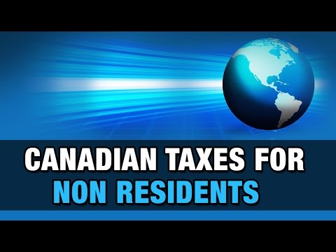 Canadian Taxes For Non Residents
