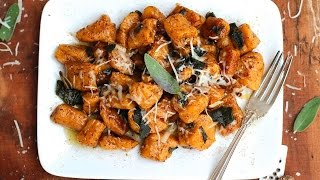 Dinner Recipe: Sweet Potato Gnocchi with Browned Butter Sage Sauce by Everyday Gourmet with Blakely