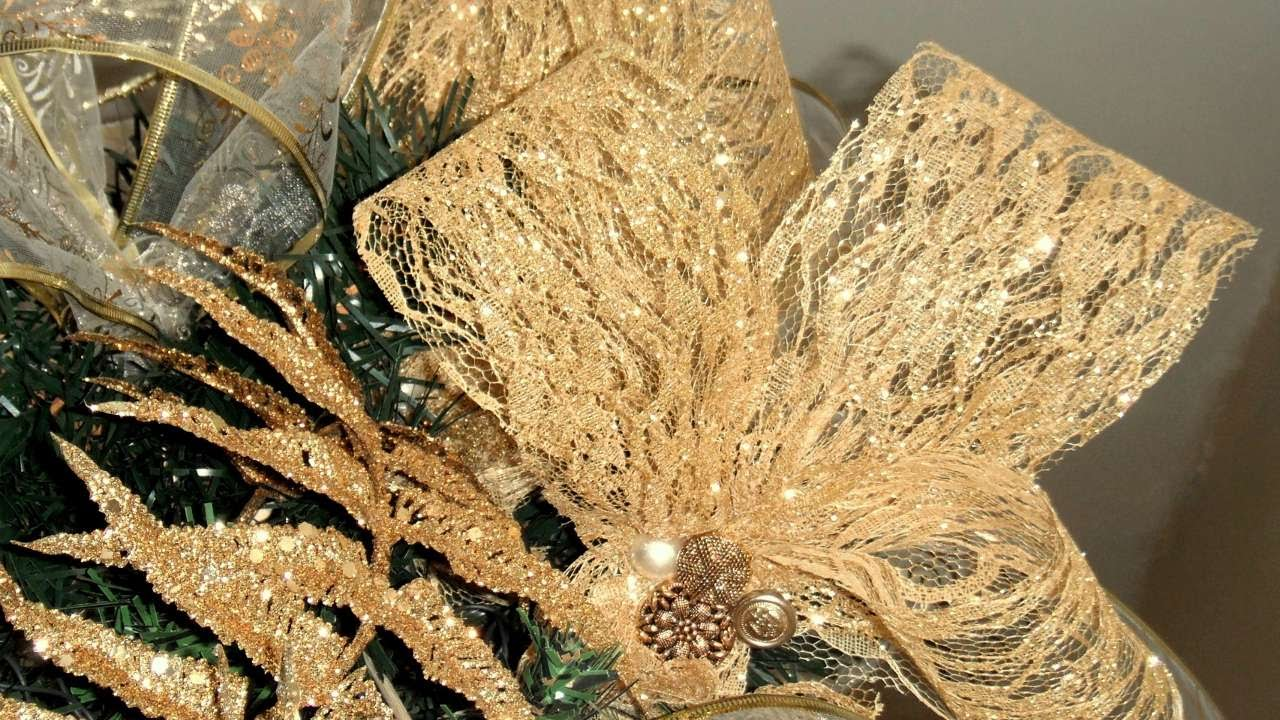 How To Christmas Tree Lace Ribbon Toppers   DIY Home Tutorial   Guidecentral