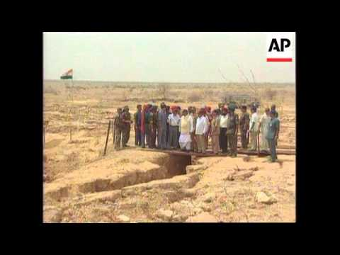 India - Vajpayee visits nuclear test zone