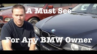 How to open stuck jammed hood from broken cable BMW e39 e38 or X5 BEST WAY in under 30 seconds !!!