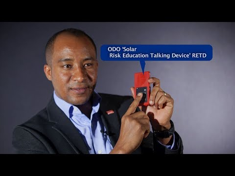 ODO 'Solar Risk Education Talking Device' RETD