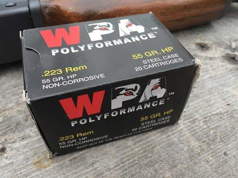 .223 Remington, 55gr HP, Wolf Polyformance, Velocity and Gel Test