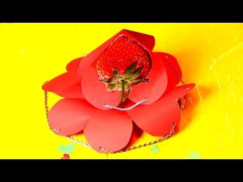 Супер валентинка корзинка, Валентинка 3d оригами смотреть в хорошем качестве