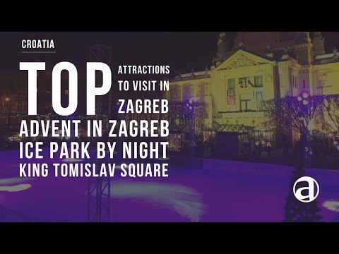Advent in Zagreb | Ice Park | King Tomislav Square Walkthrough by Night 2017/2018 | Travel antropoti