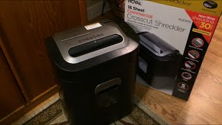 Royal Crosscut Shredder 1620MX - Unboxing, Use and Review