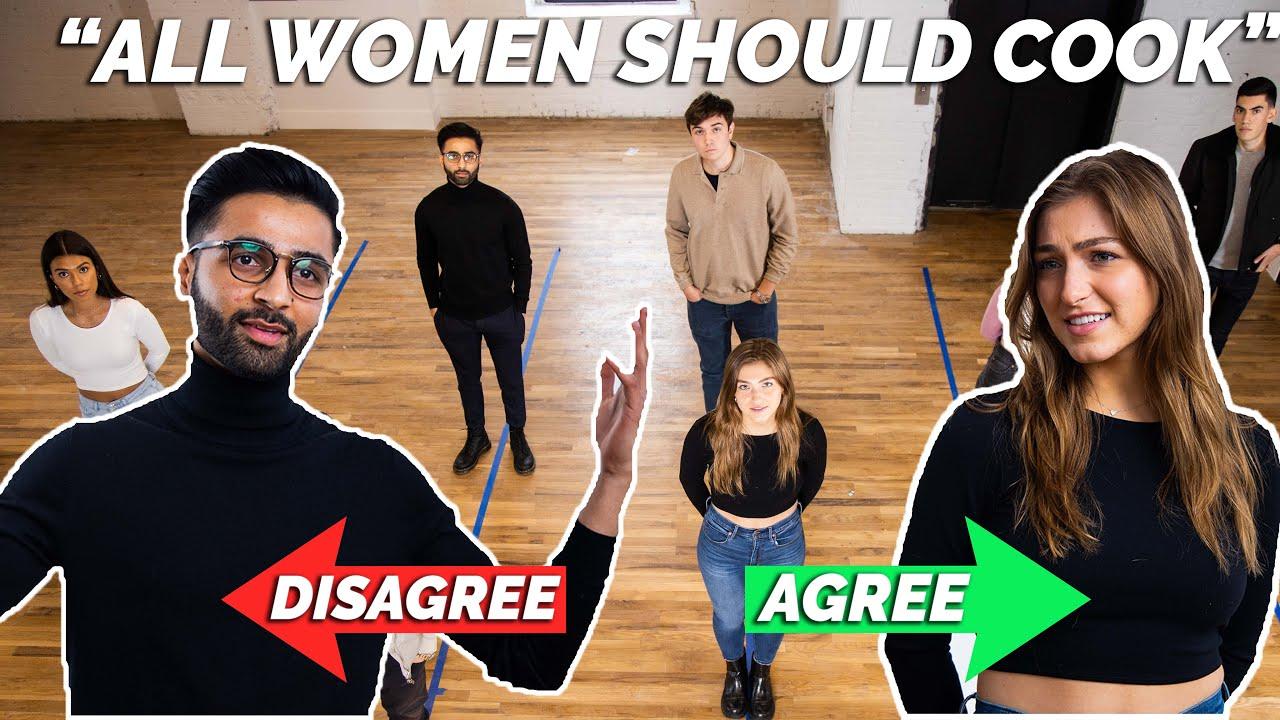 Do All Women Think The Same? | 4 Guys vs 4 Girls