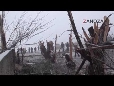 MyCargo B744 at Bishkek on Jan 16th 2017, impacted terrain on go around footage 4