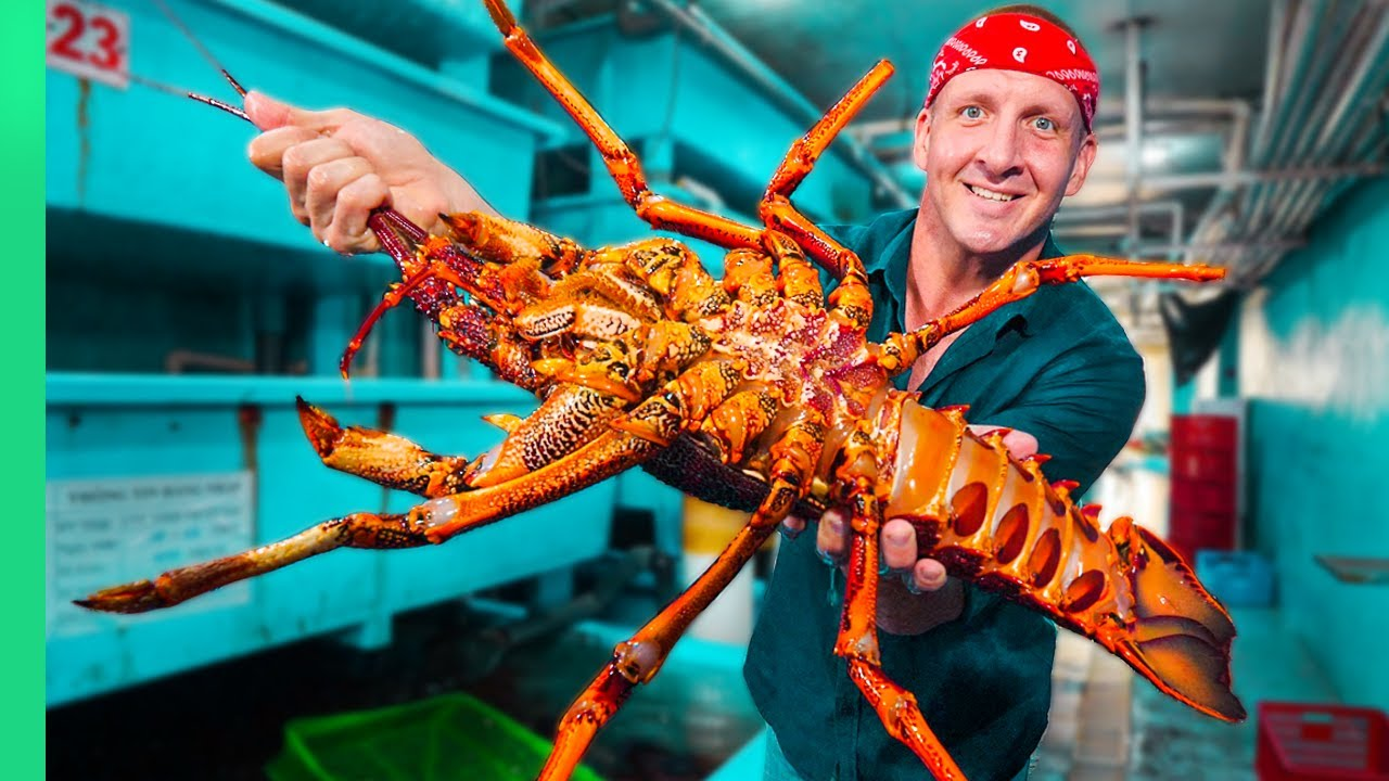 French Chef Prepares RARE Red Spiny LOBSTER 5 Ways!!