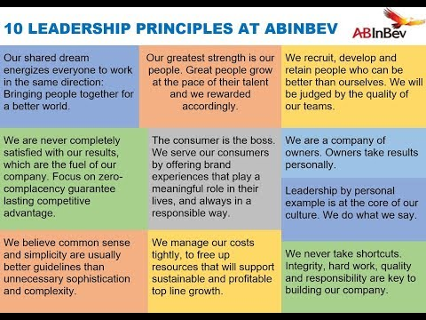 10 PRINCIPLES AT AB INBEV via Carlos Brito